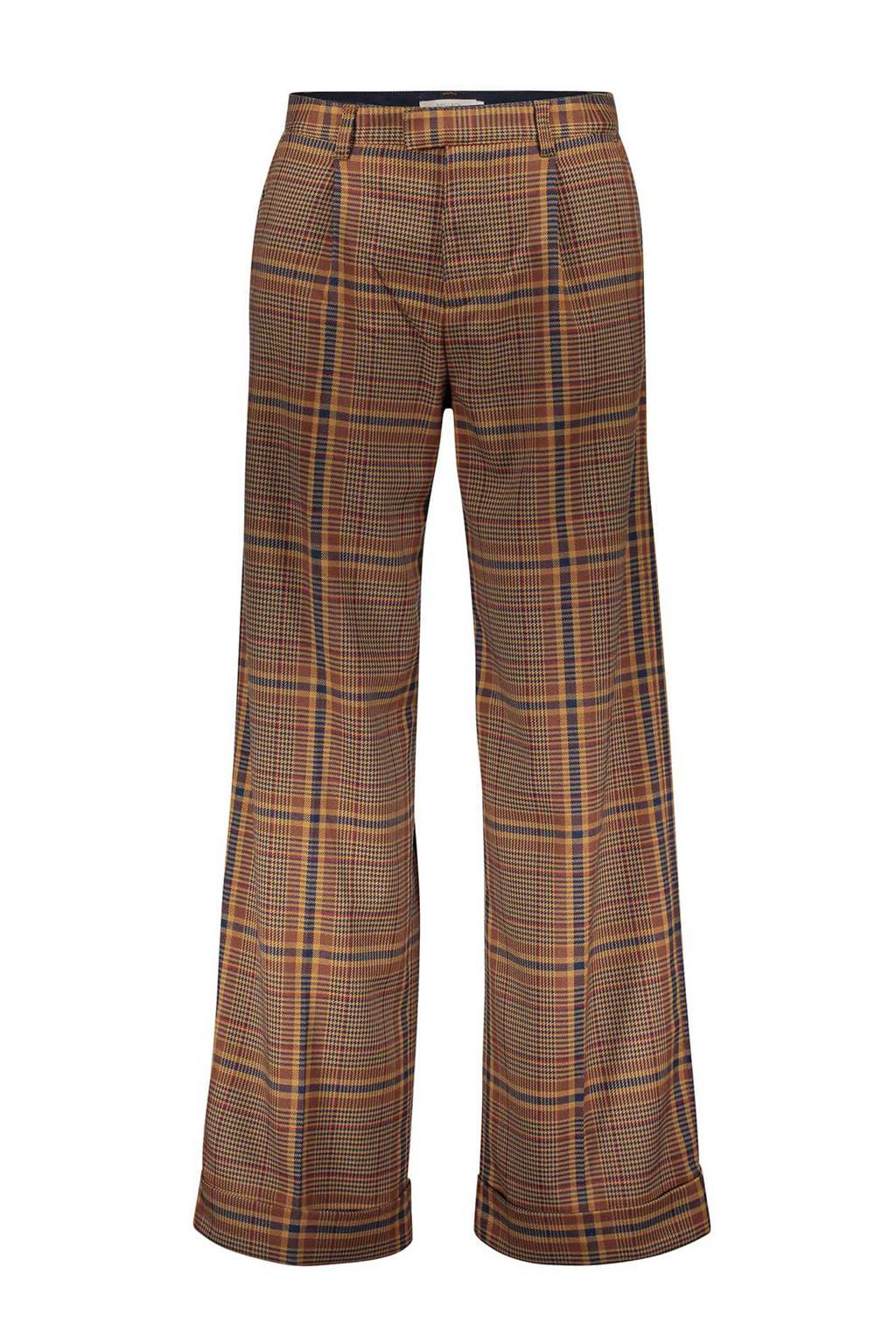 Sissy-Boy geruite pantalon bruin, Bruin