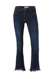 cropped flared jeans donkerblauw