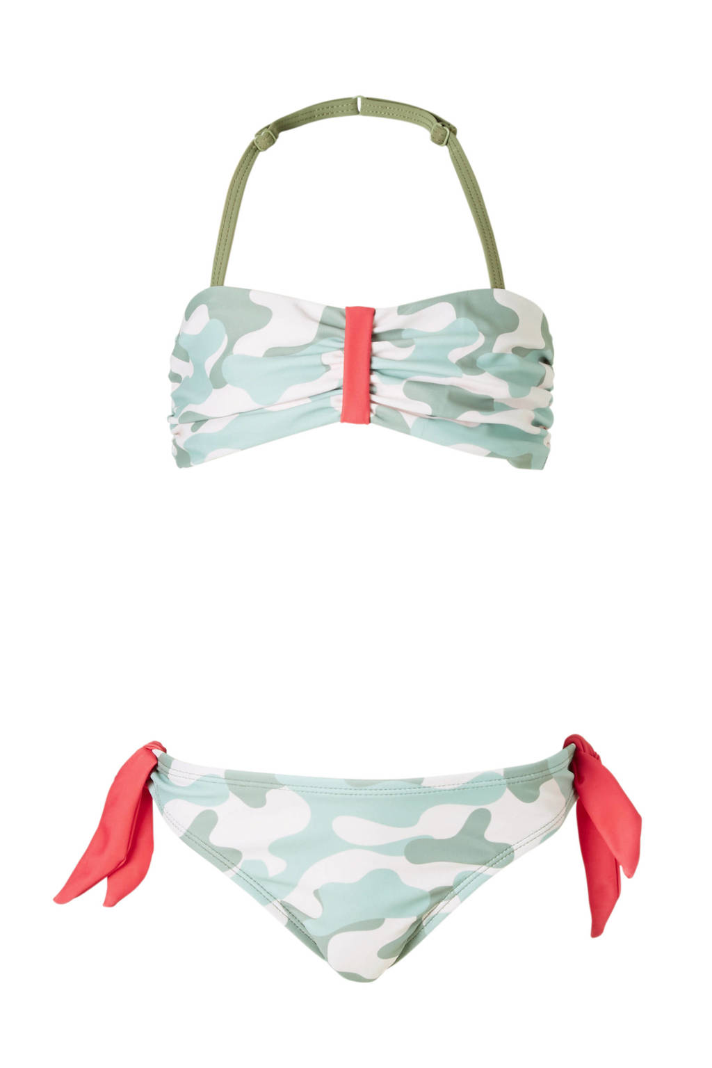DJ Dutchjeans bikini all over print groen, Groen/roze
