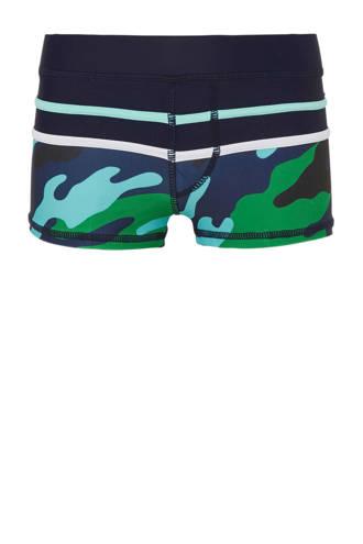 zwemboxer camouflage marine