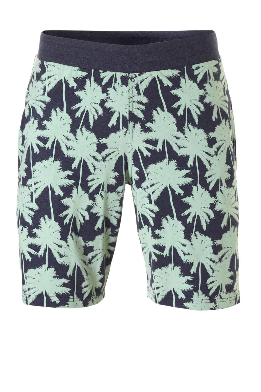 Charlie Choe pyjamashort met all over print groen, Blauw/groen