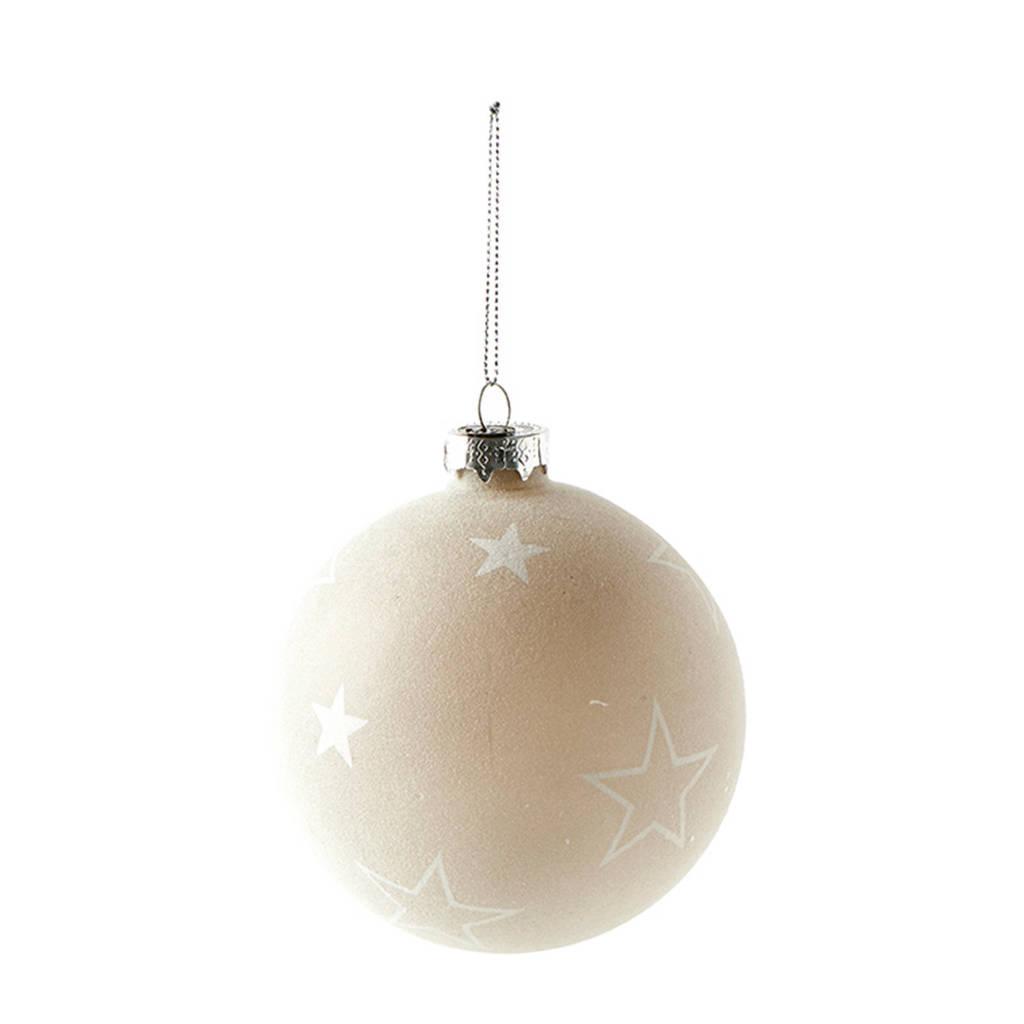 Riviera Maison kerstbal Snowstar Christmas (Ø 10cm), Zilver