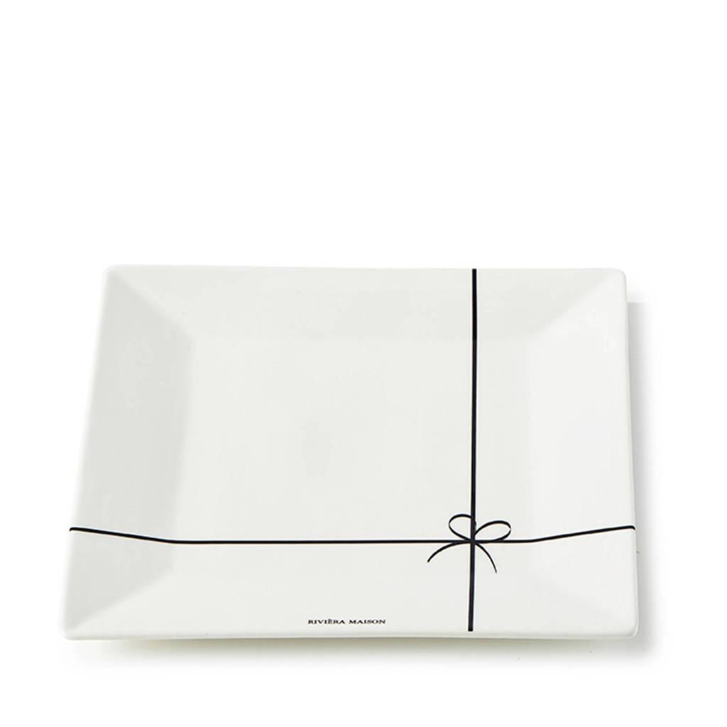 Riviera Maison Happy Bow ontbijtbord (Ø23 cm), Wit