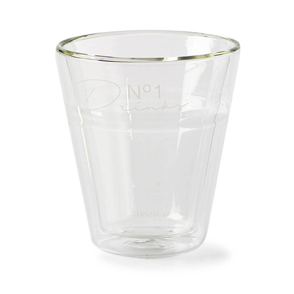 Riviera Maison No 1 Drinks waterglas (Ø8,5 cm), Transparant