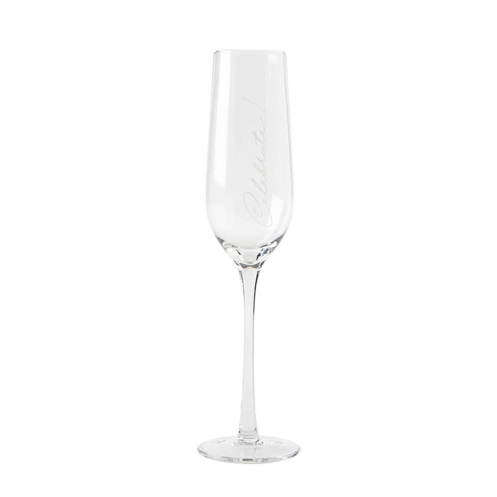 Riviera Maison champagneglas (Ø7 cm), Transparant