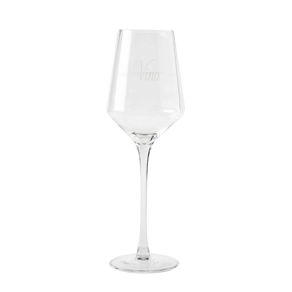 Riviera Maison Vino witte wijnglas (Ø9 cm), Transparant
