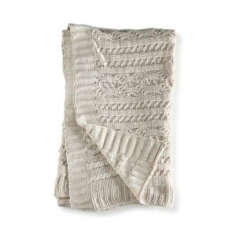 plaid Harrison Cable Knit Throw (170x130cm)