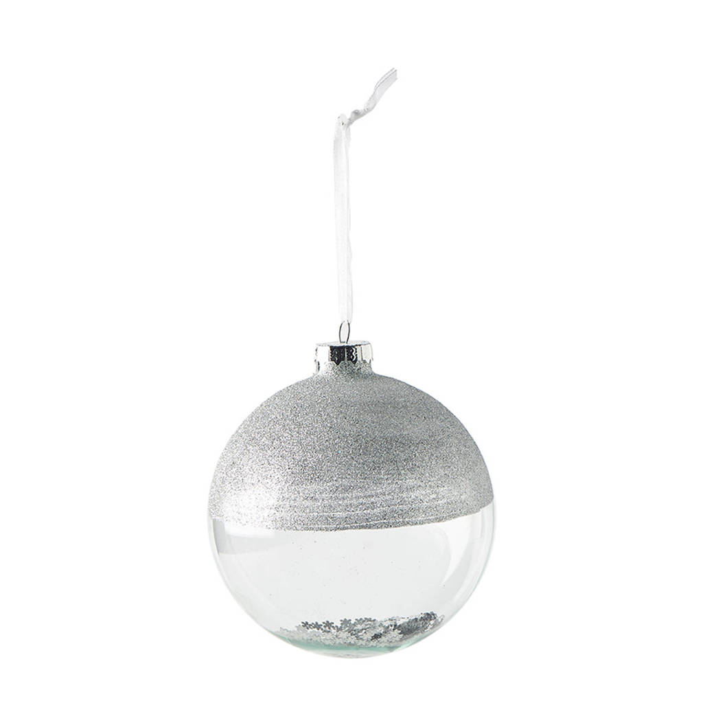 Riviera Maison kerstbal It's Christmas Time (Ø10cm), Zilver