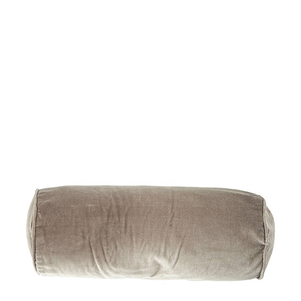 Riviera Maison sierkusssenhoes Velvet Roll Pillow (50x20 cm), Lichtgrijs