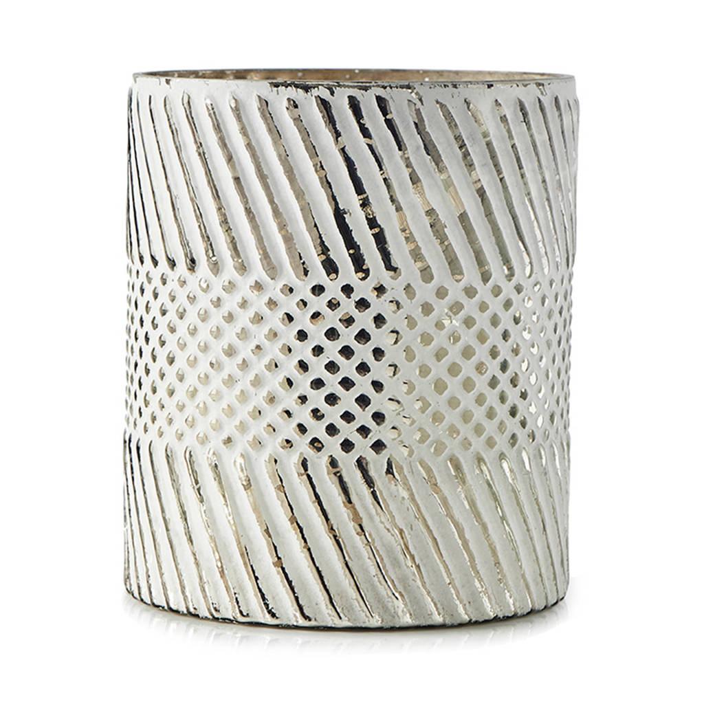 Riviera Maison windlicht Basic Blizzard (12x14,5 cm), Zilver