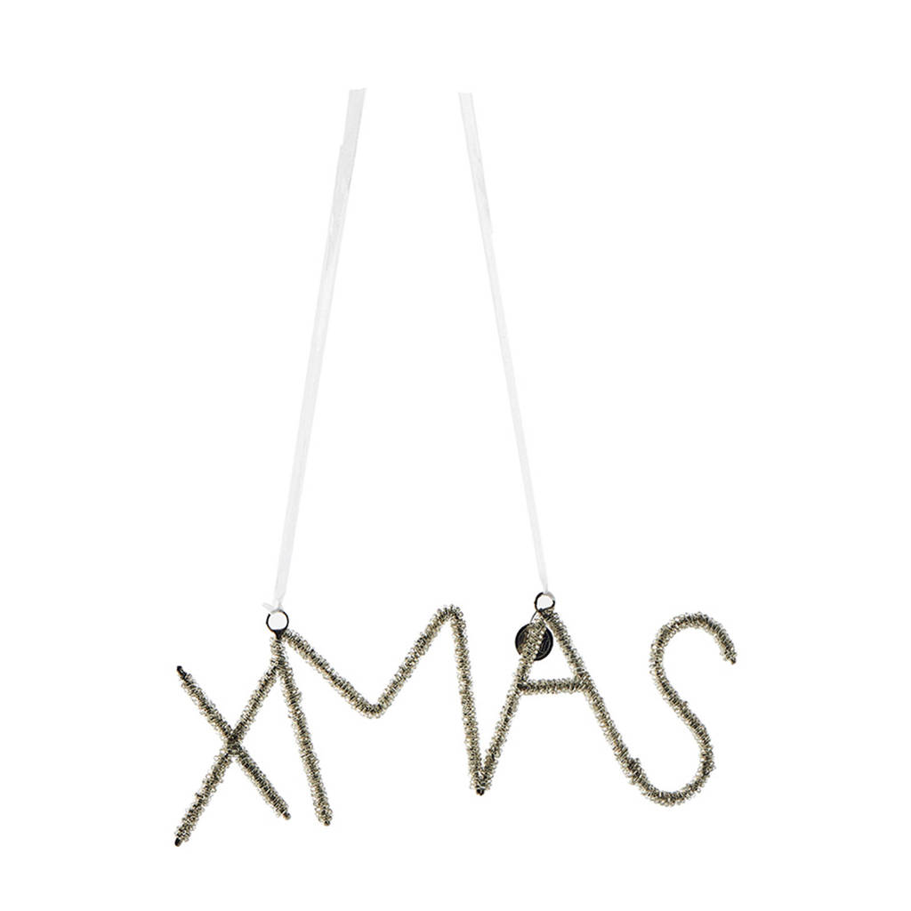 Riviera Maison kersthanger Holiday Sparkle X-mas, Zilver