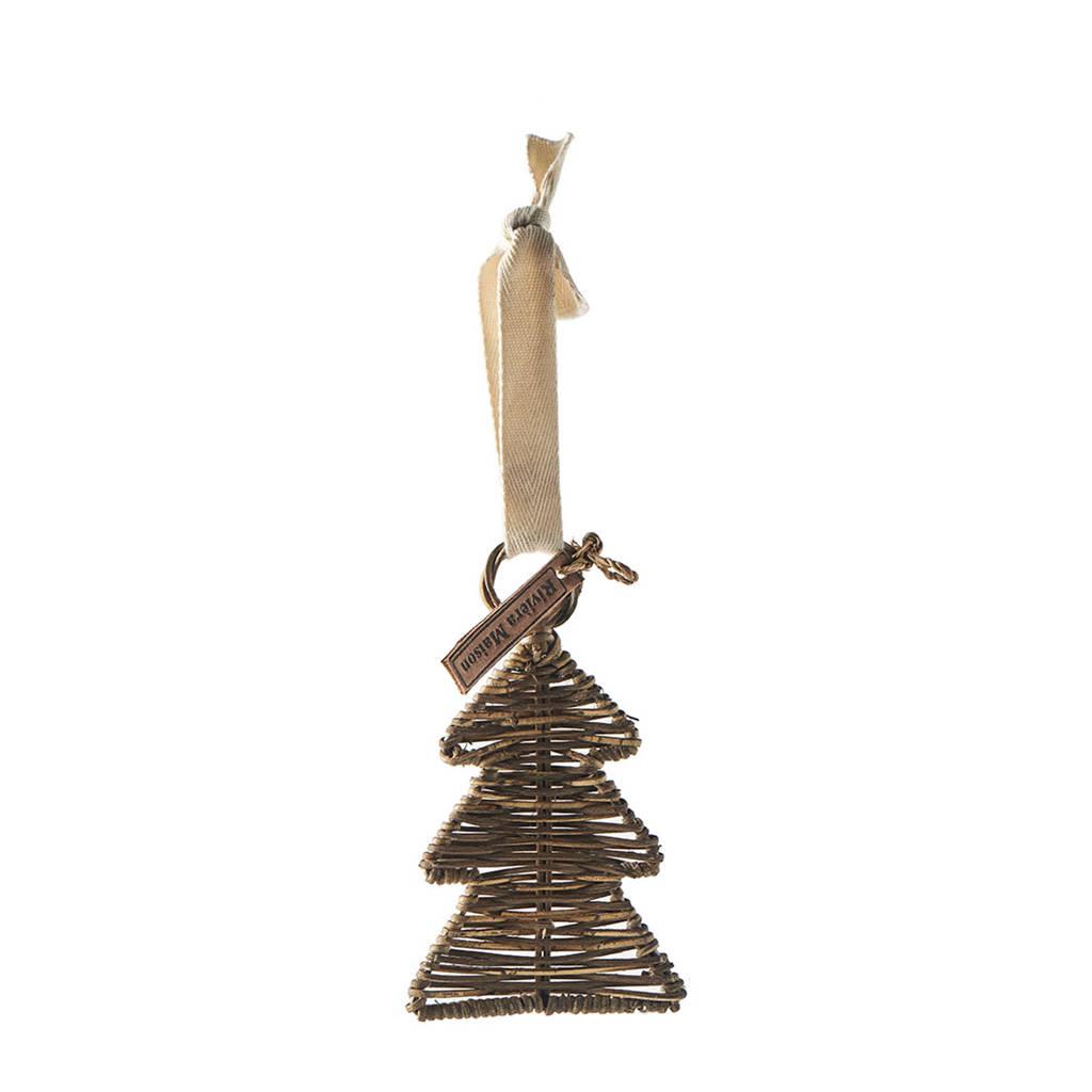 Riviera Maison kersthanger Rattan Christmas Hanger Tree (14x15cm), Bruin