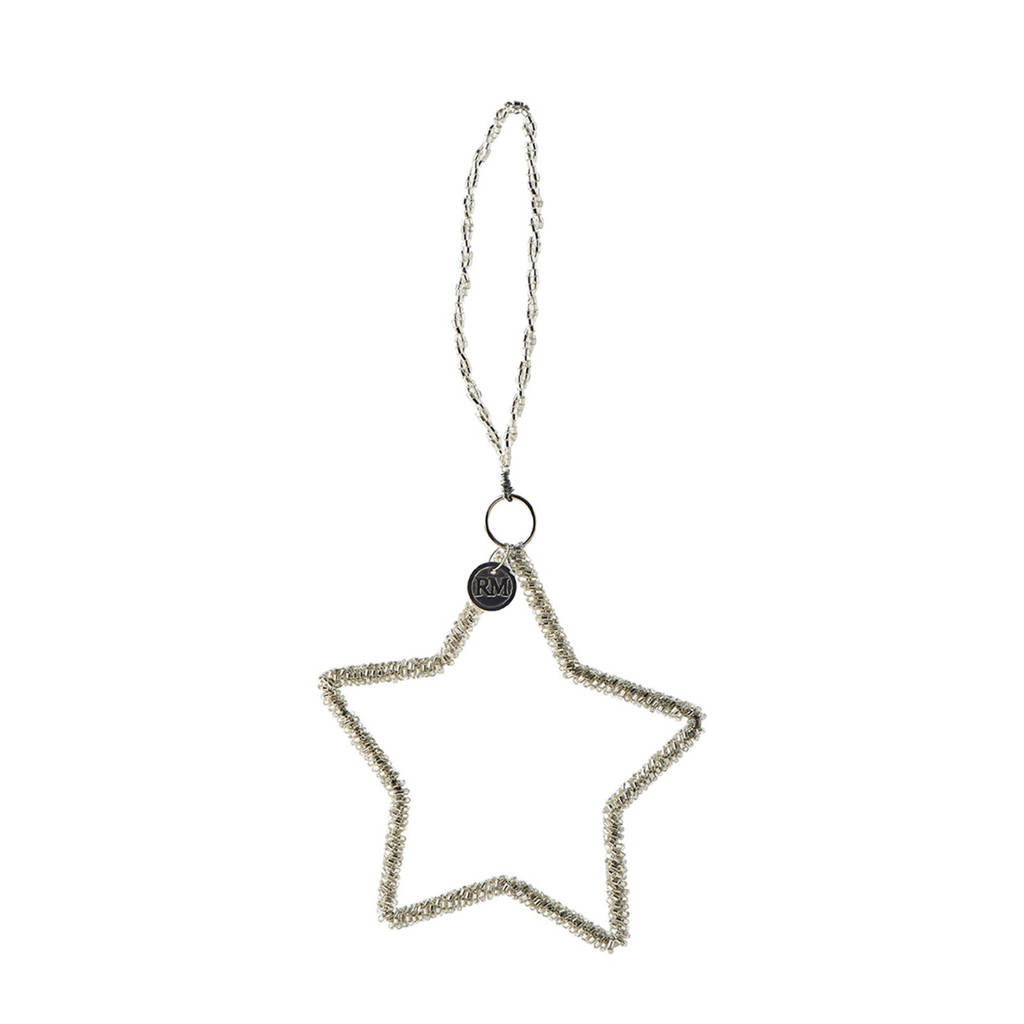 Riviera Maison kersthanger Holiday Sparkle Star, Zilver