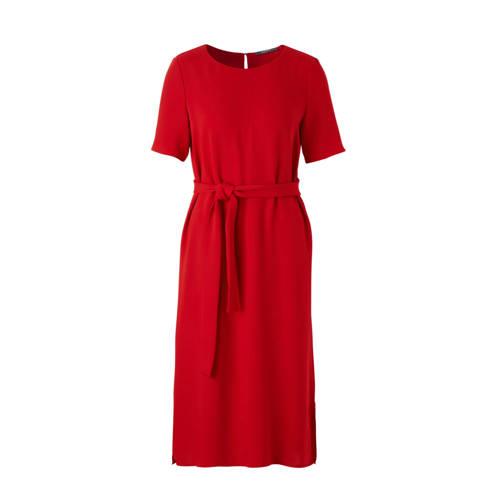 jurk met bind ceintuur, Dames jurk van ESPRIT Women Collection, uitgevoerd in een geweven kwaliteit. De jurk is voorzien van een ronde halslijn, korte mouwen, een split aan de onderkant, een druppelvormige split aan de achterkant die sluit met een knoop en een bind ceintuur om de taille.Extra gegevens:Merk: ESPRITKleur: RoodModel: Jurk (Dames)Voorraad: 9Verzendkosten: 0.00Plaatje: Fig1Maat/Maten: 36Levertijd: direct leverbaarAantal reviews: 1Gemiddelde rating: 2.00