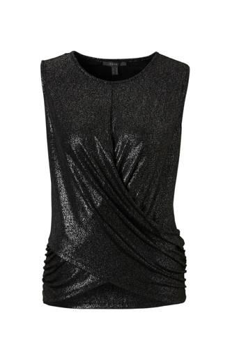 Women Collection mouwloze glitter top