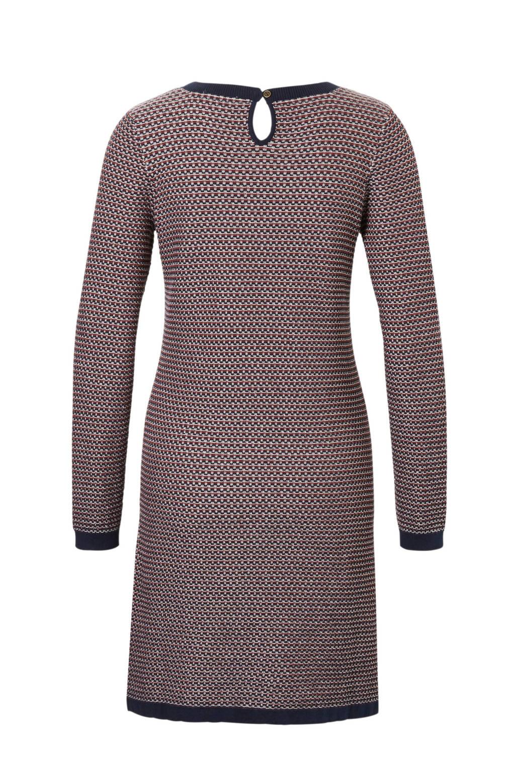 edc Women jurk met all over print, Blauw/rood/wit