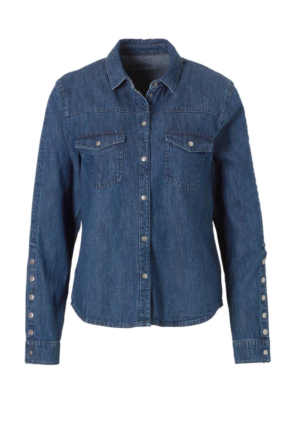 edc Women spijker blouse, Blauw