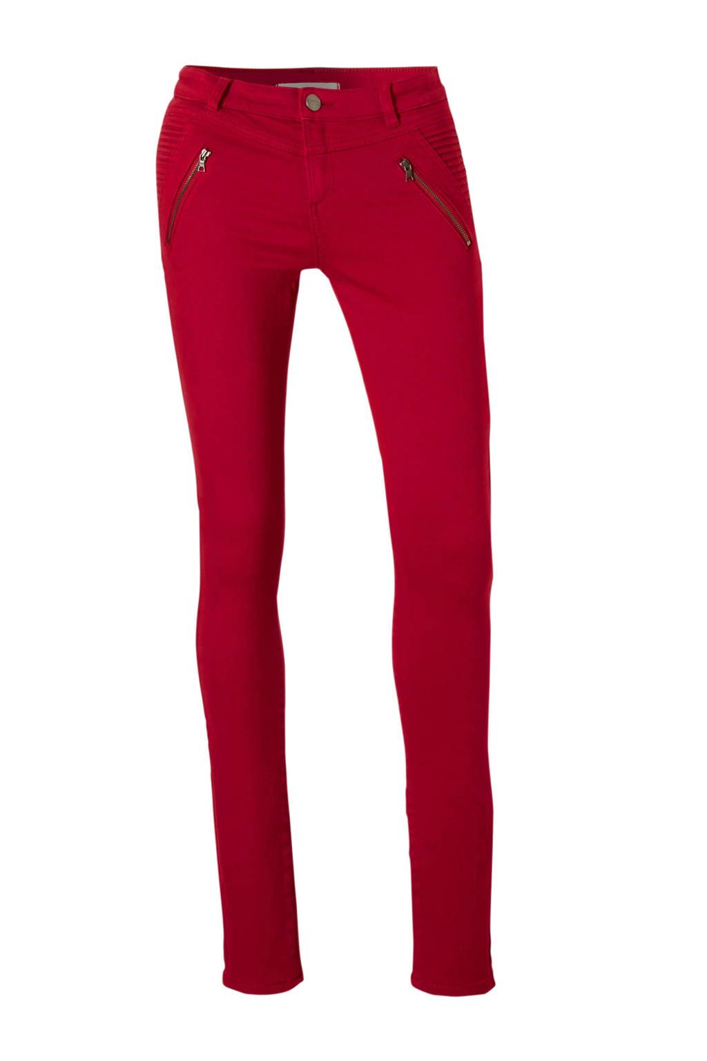 ESPRIT Women Casual broek met ritszakken, Rood
