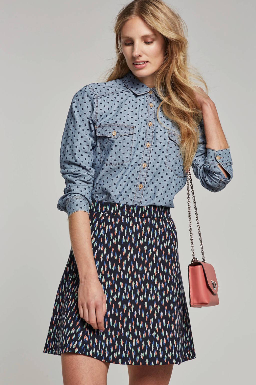 edc Women gestipte blouse, Blauw