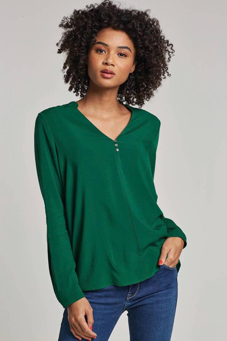 met hals ESPRIT blouse Women V Casual 6UTqqOwp