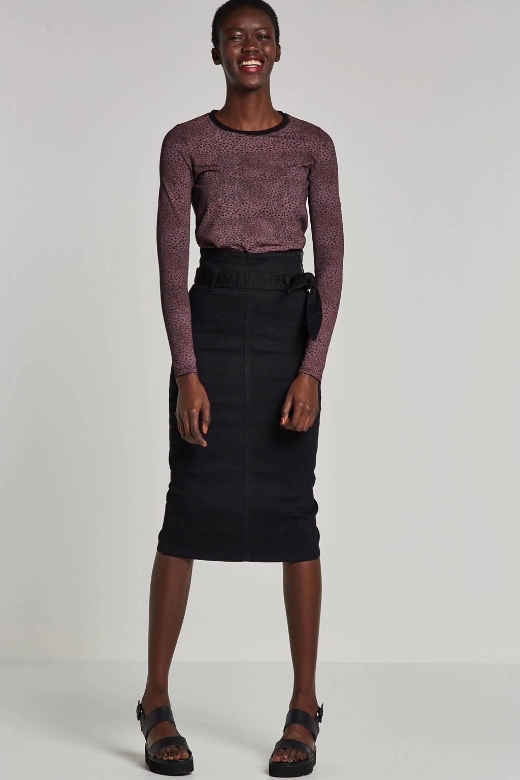 edc Women top met all over print, Roze/zwart