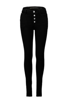 skinny fit high waist jeans zwart