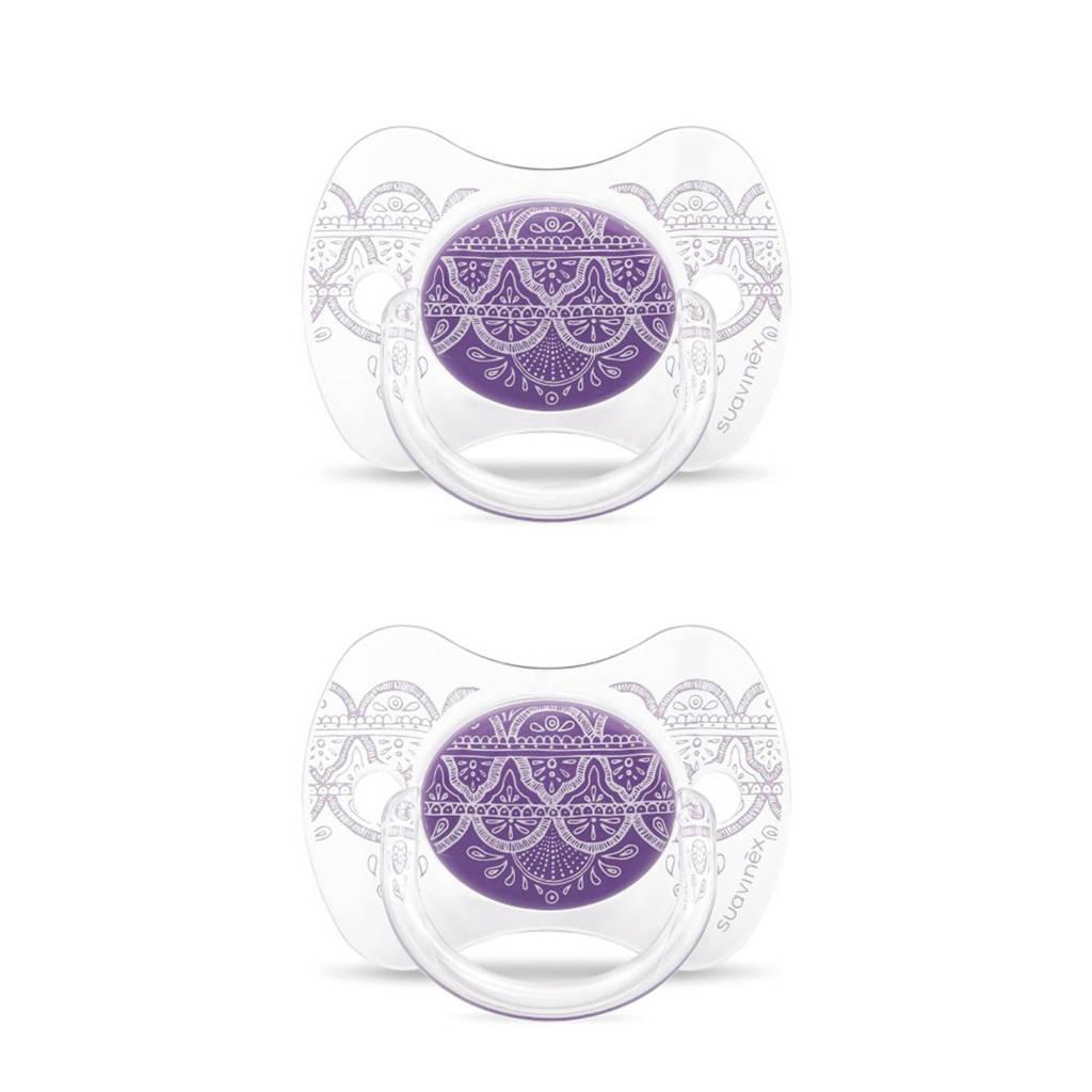 Suavinex fopspeen Violet (2stuks) paars, Paars