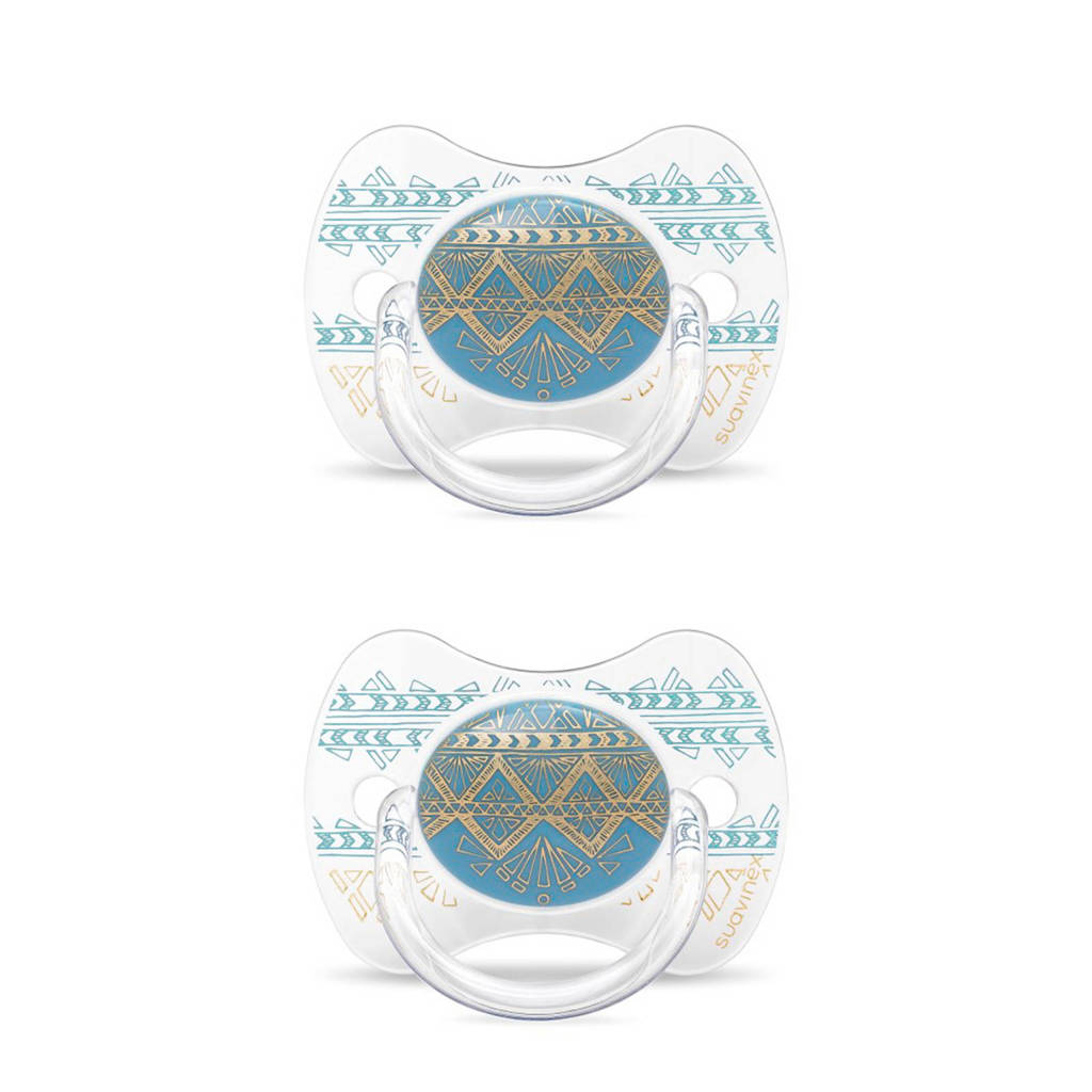 Suavinex fopspeen Light Blue (2 stuks) lichtblauw, Lichtblauw
