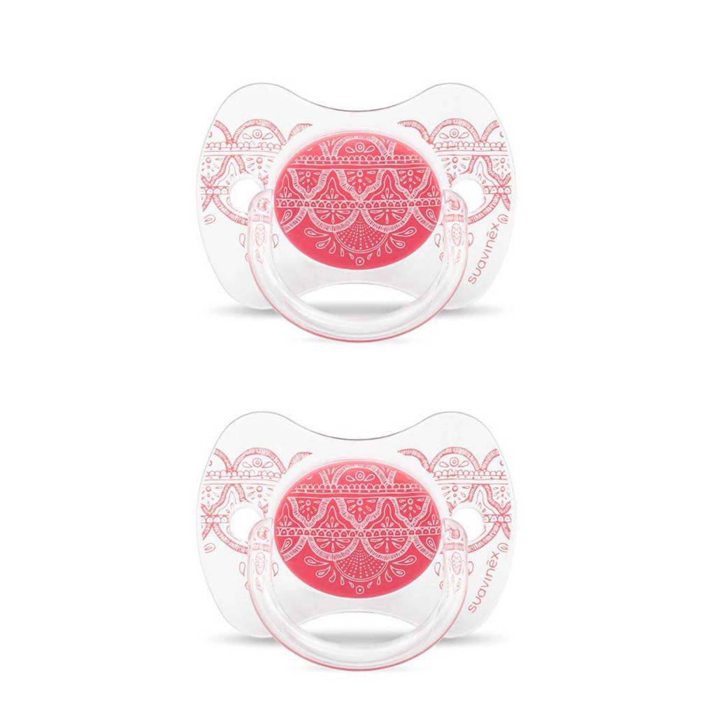 Suavinex fopspeen Pink (2stuks) roze, Roze