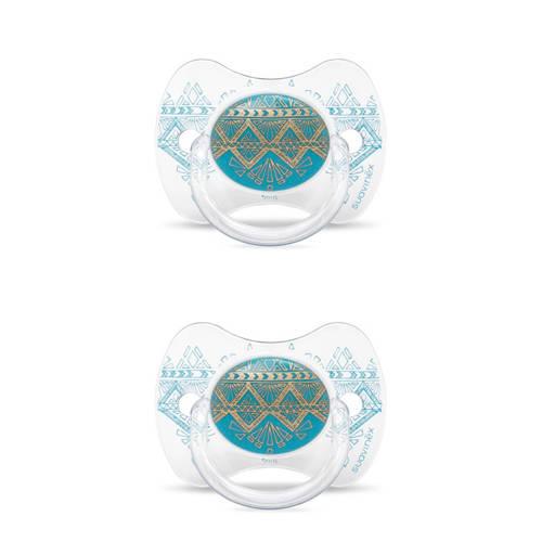 Suavinex fopspeen Light Blue (2stuks) lichtblauw
