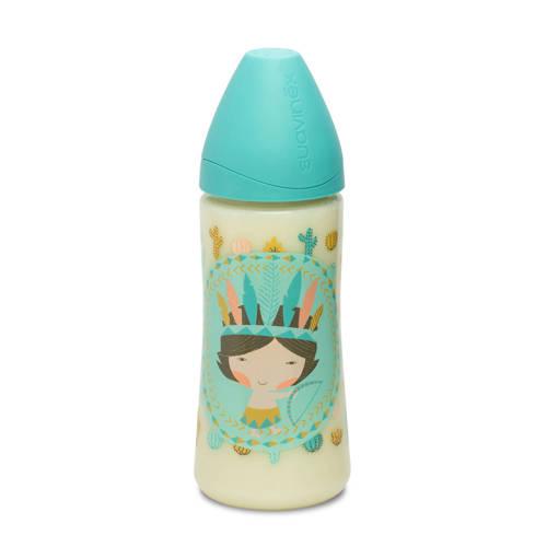 Suavinex fusion fles 360 ml blue indian kopen