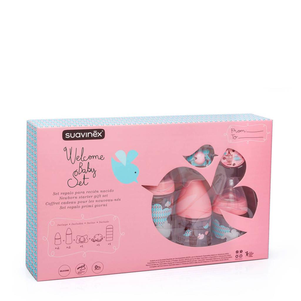 Suavinex cadeauset welcome baby girl roze, Roze