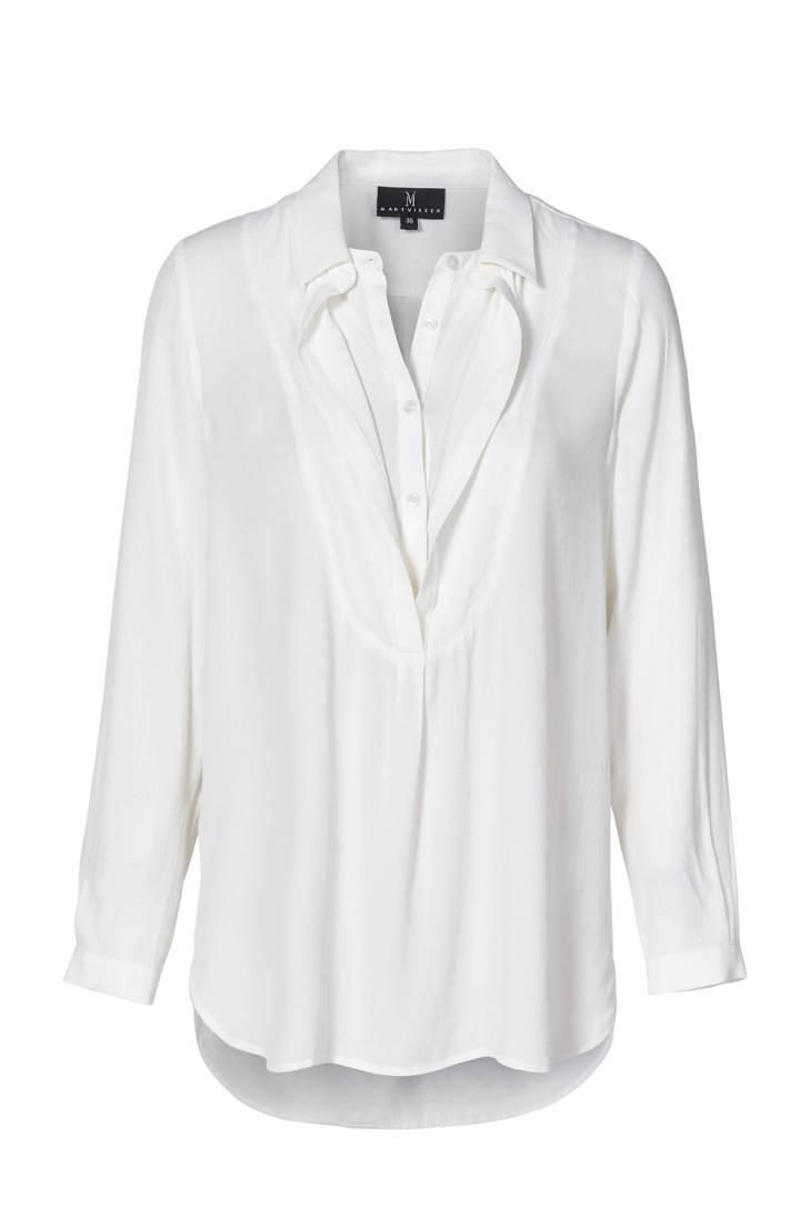 Visser Violetta wit Promiss Mart blouse v6nx5xaf
