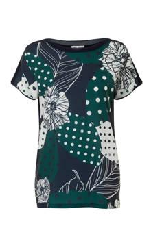Regulier T-shirt met bloemenprint