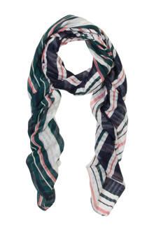 gestreepte sjaal met stippen zwart