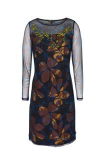 Didi jurk met sierkraaltjes antraciet