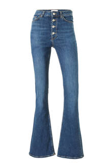 flared fit jeans blauw