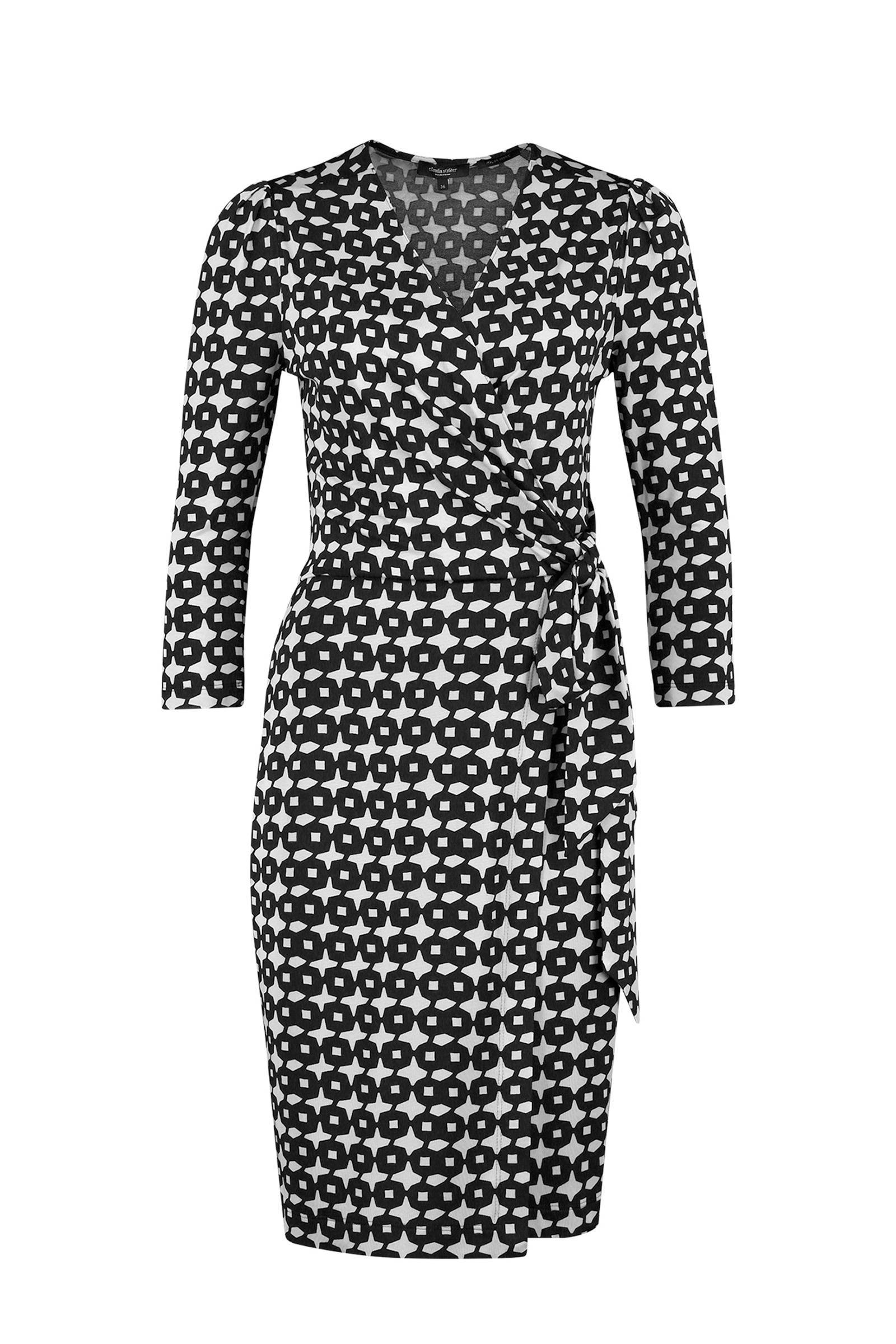 Claudia Sträter jurk met ruitdessin zwart