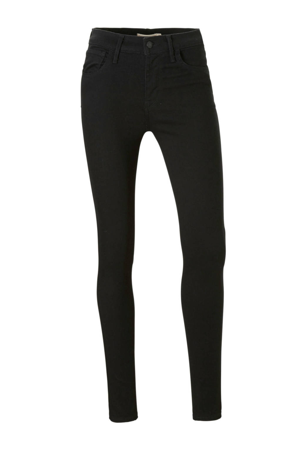 Levi's high waist skinny jeans zwart, Zwart