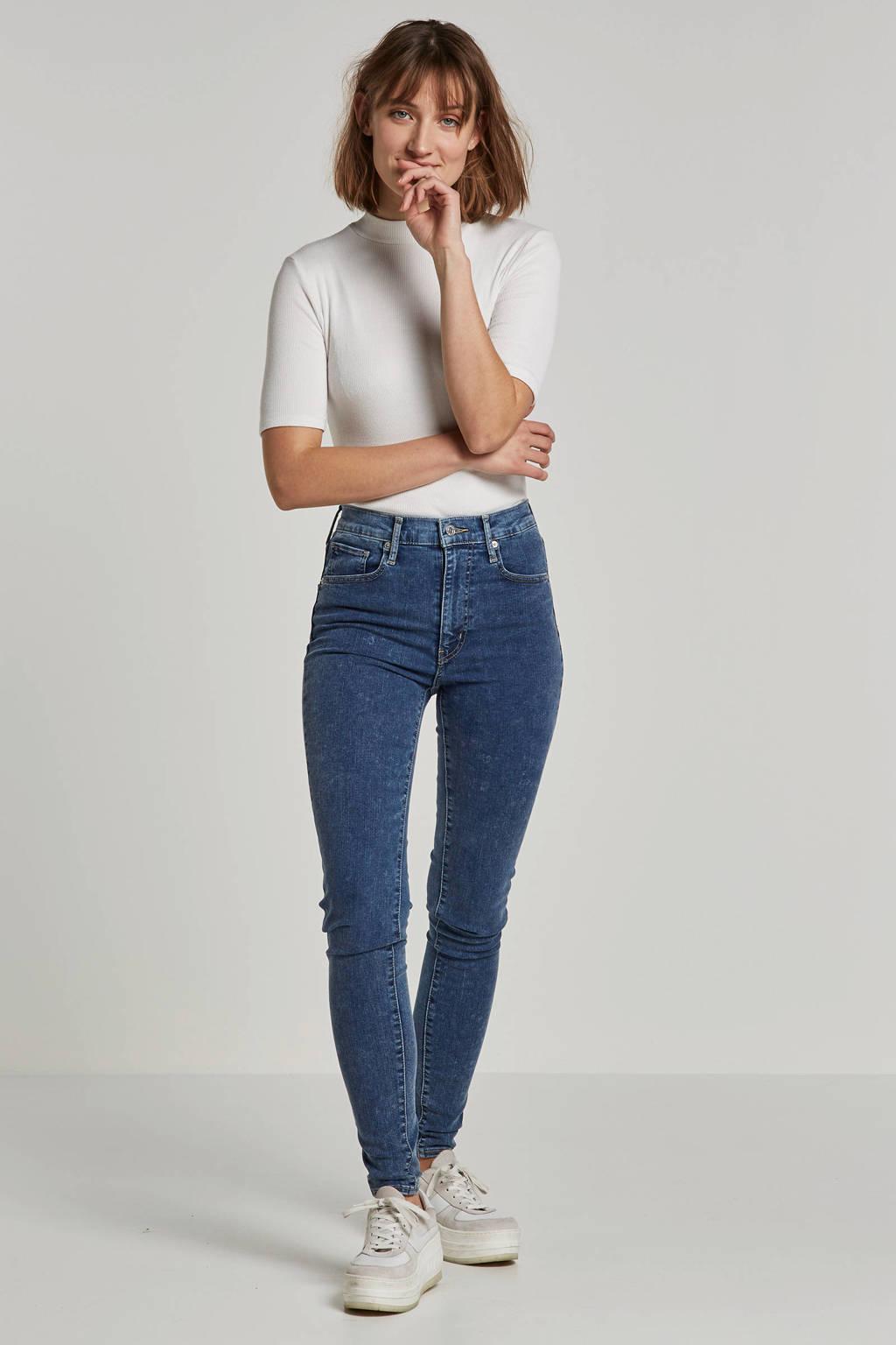 Levi's high waist skinny jeans blauw, Blauw