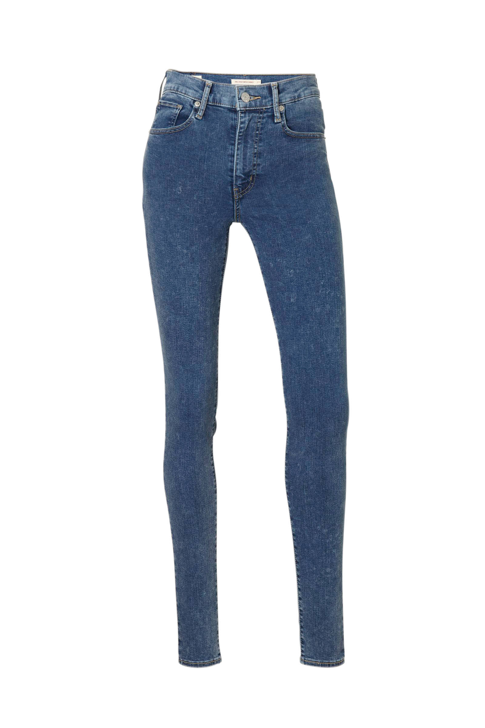 Levi's high waist super skinny fit jeans (dames)