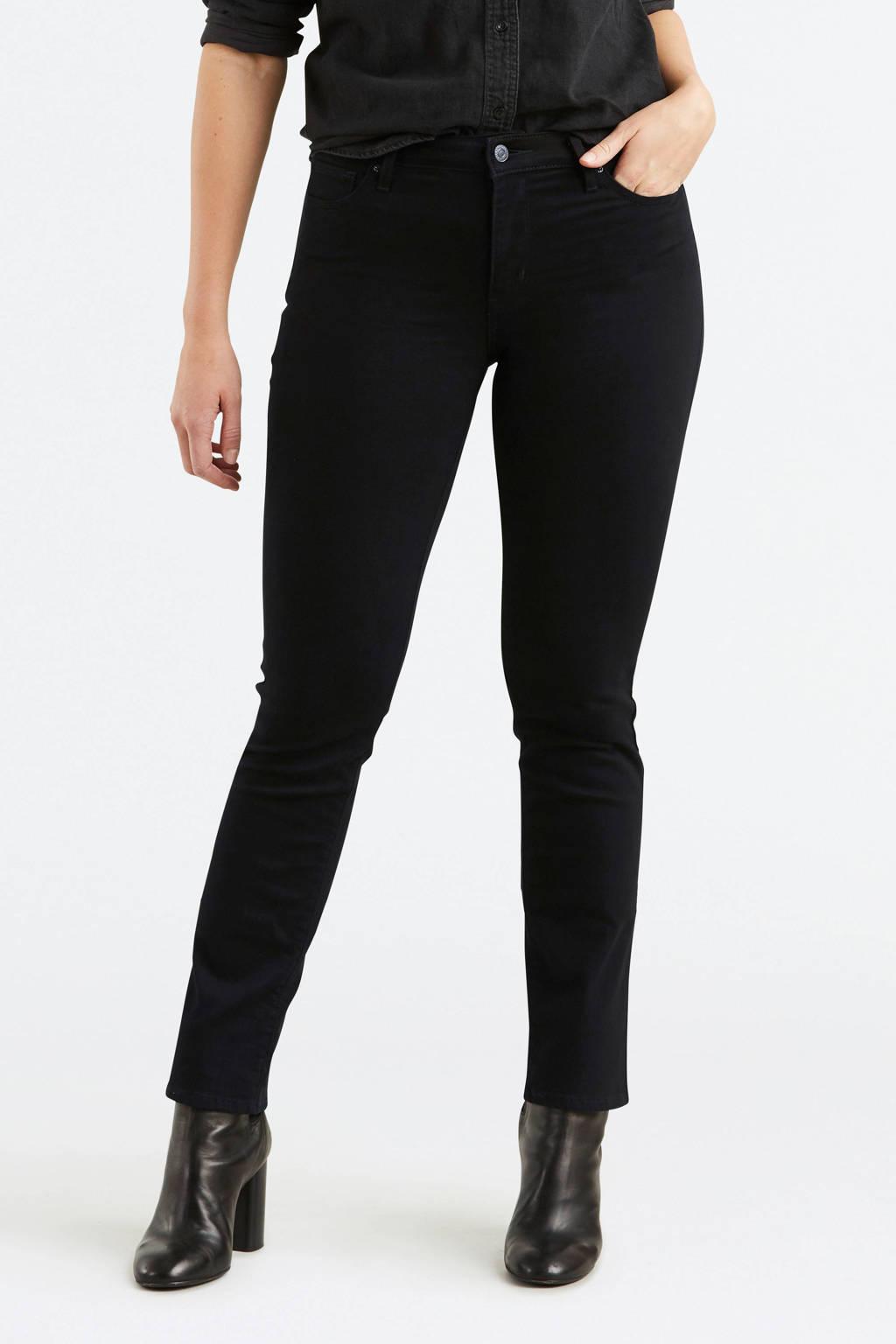 Levi's 712 slim fit jeans, Zwart