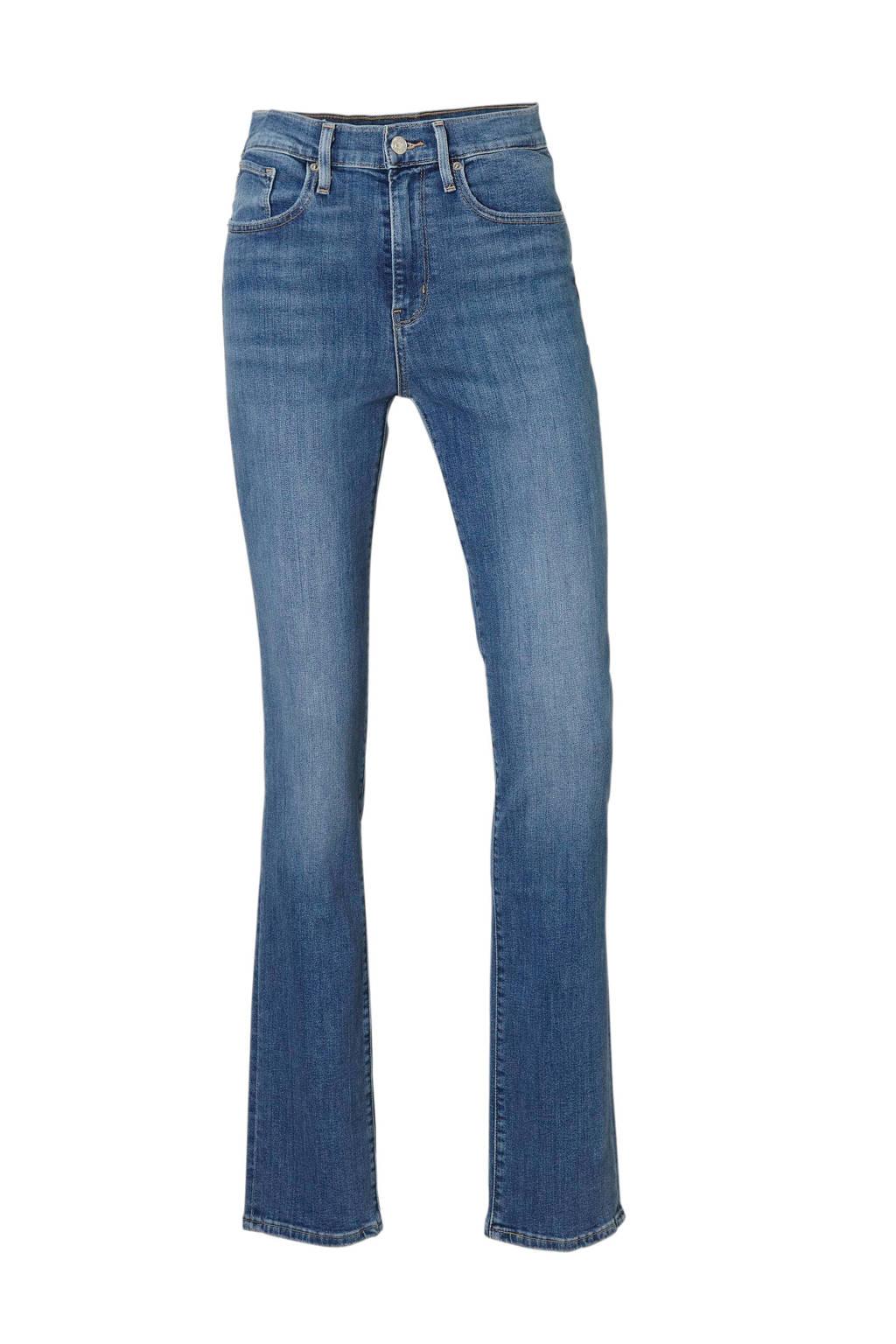 Levi's high waist straight fit jeans blauw, Blauw