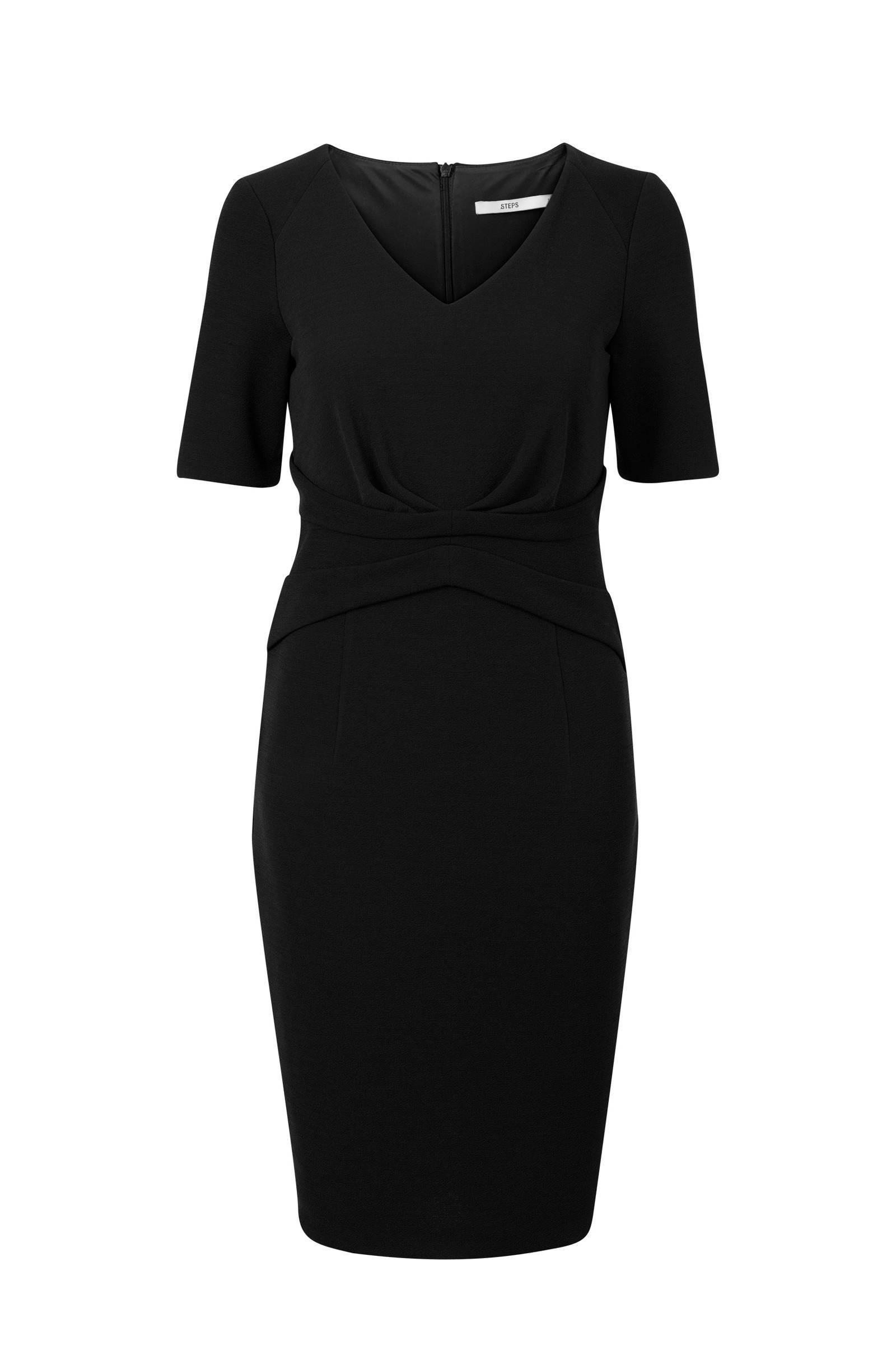 zwarte jurk steps