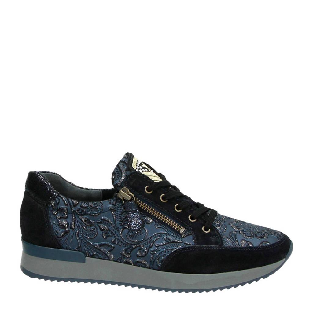 Gabor  suède sneaker blauw, Blauw