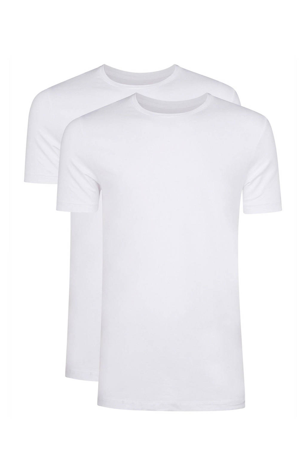 WE Fashion Fundamental T-shirt - set van 2, White Uni