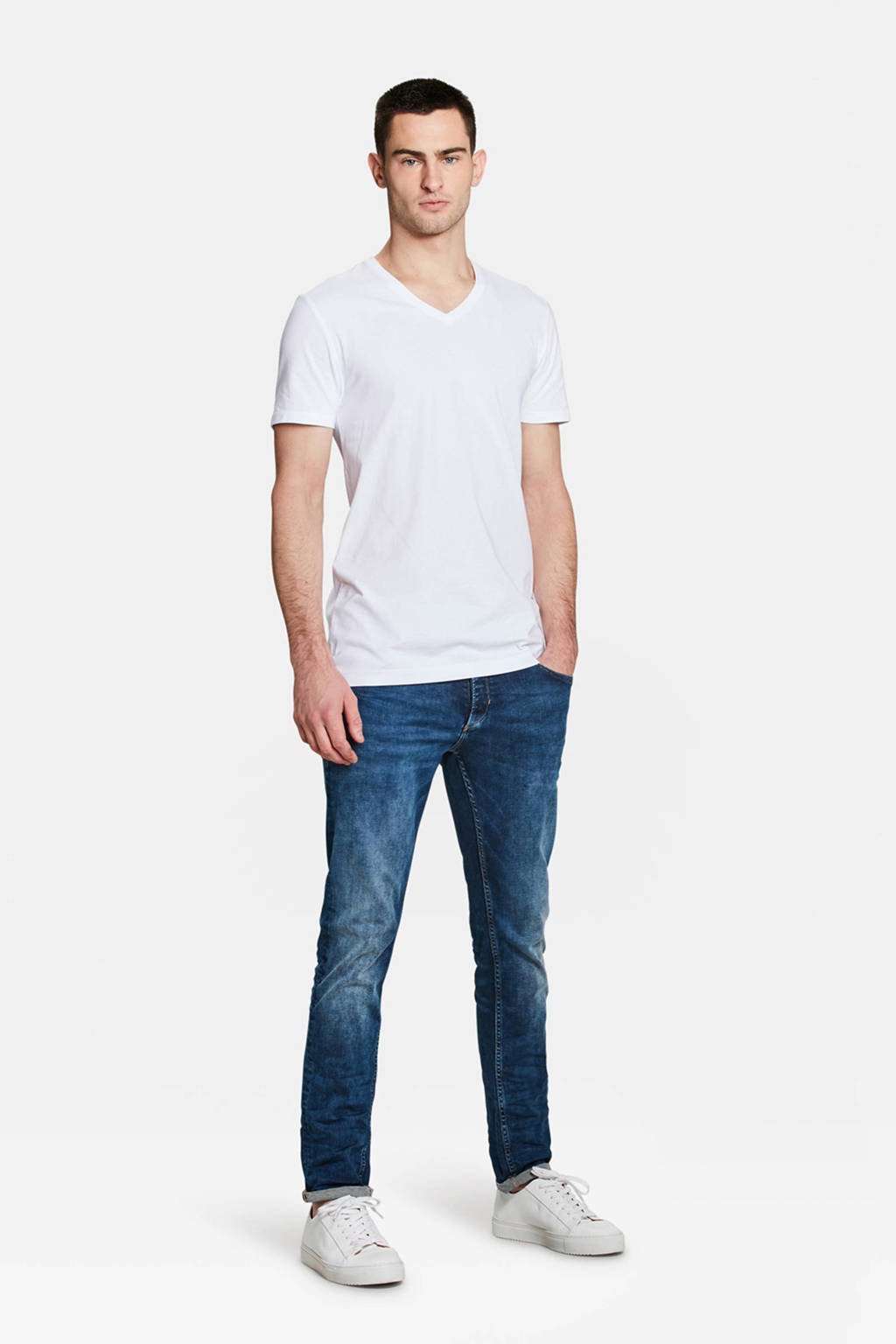 WE Fashion Fundamental T-shirt white uni, White Uni
