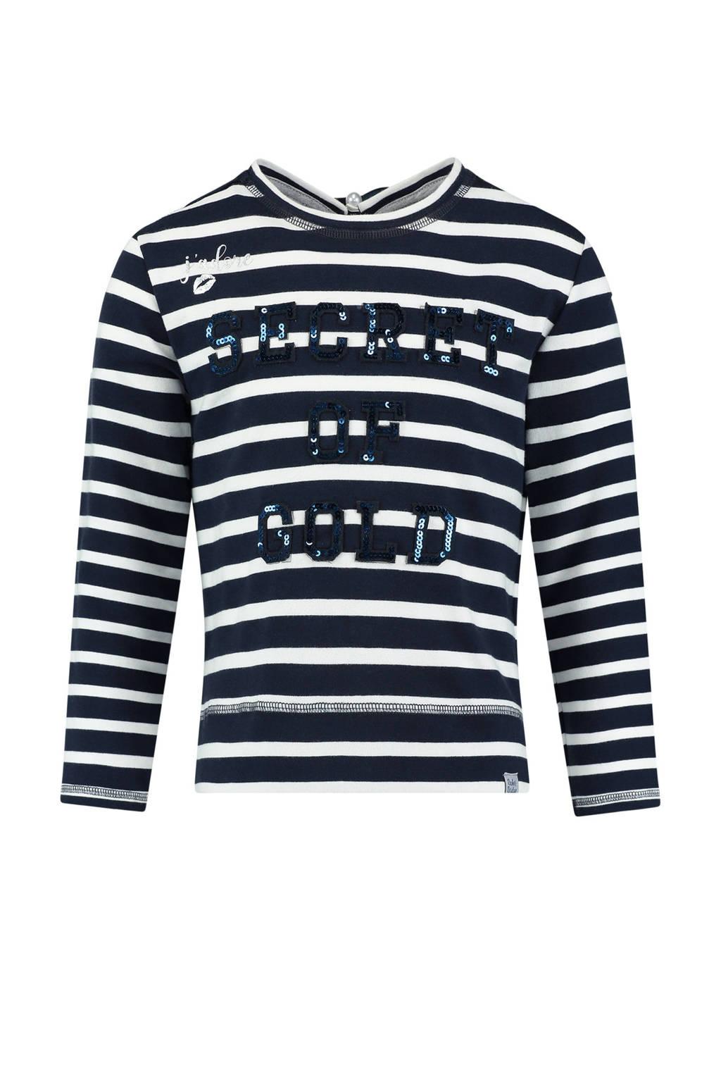 Baker Bridge sweater met all over print navy, Navy