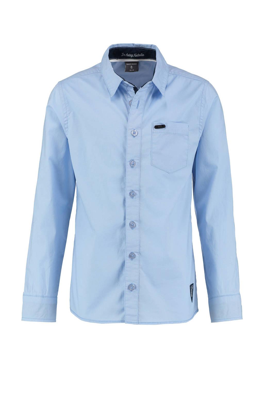 Baker Bridge slim fit overhemd Olav lichtblauw, Lichtblauw