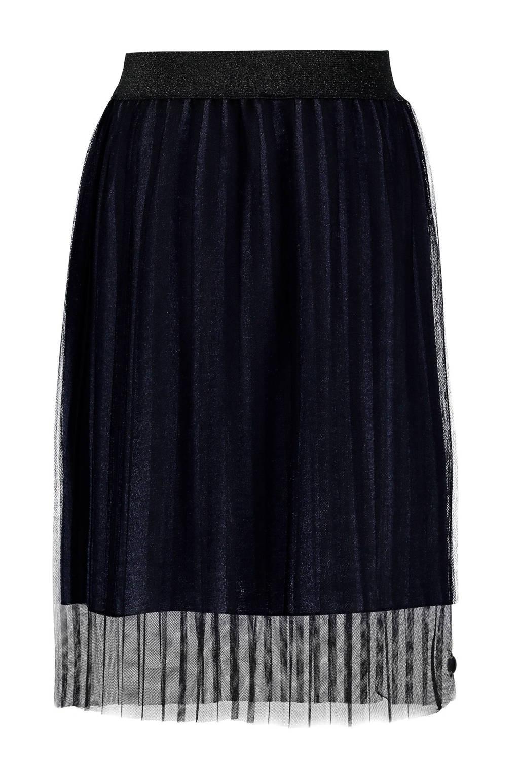 Baker Bridge plissé Sabana rok donkerblauw, Donkerblauw/zwart